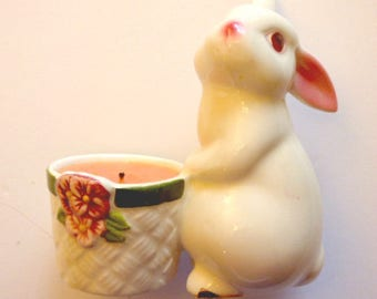 Bunny Candle - Avon Bunny Bright Candle Holder - Easter decoration - Spring Candle Holder
