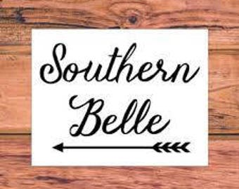 southern belle window decal
