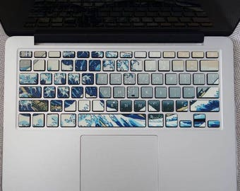 The wave keyboard sticker macbook pro keyboard skin macbook sticker macbook air sticker