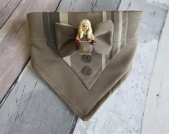 Game of Thrones Mini Figure Tuxedo Dog Bandana, dog accessories, slip on bandana, pet accessories, detachable bandana, collar accessory