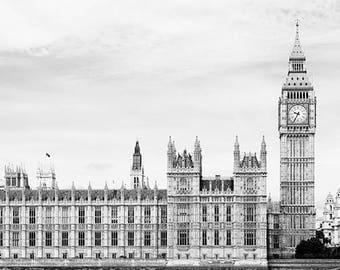 Houses Of Parliament Photo, Big Ben Photography, Big Ben Wall Art, Big Ben Photo Print, Picture Of London Landmarks, Westminster Photography