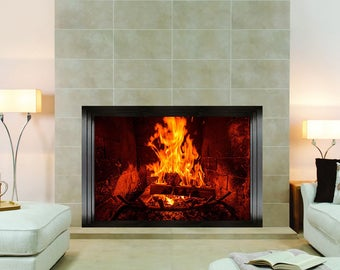 Fireplace Wall Sticker, Wall Mural, Wall Covering, Wall Decal, Wall Art, Part 42