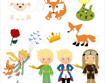 Little Prince Cute Kit Clipart Pequeno Principe Cute Clipart
