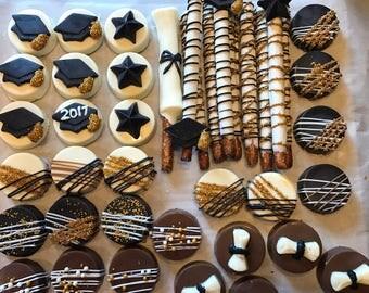 Graduation Pretzels and Oreos