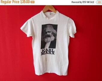 vintage karl marx small mens t shirt