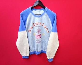 vintage budweiser sweatshirt medium mens sizs