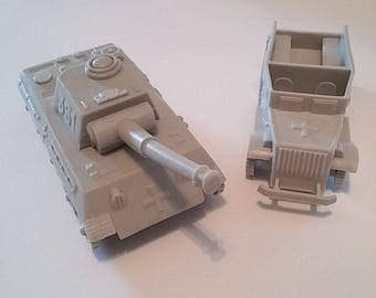 Marx Genuine Battleground and Desert Fox Tanks and Trucks