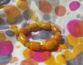 Vintage Lucite Beaded Bracelet