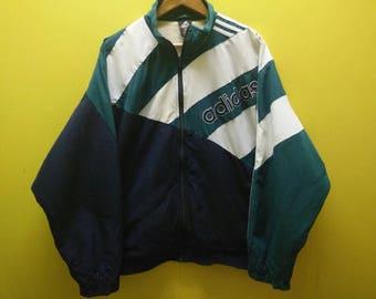 Vintage 90s Adidas Windbreaker Green