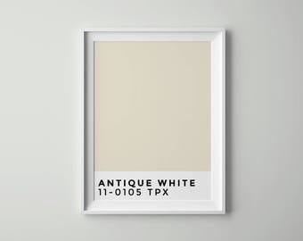 Antique White | Pantone | Printable | Wall Art Printable | Scandinavian Decor | Tumblr Room Decor | Poster | Digital files | Artwork | Rose
