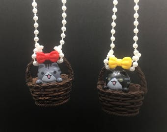 Basket Kitty Necklace