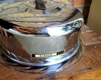 vintage cake dome/cake safe/cake carrier/cake tin