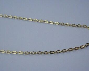 10 meters of chain Golden Link 3 x 2 mm