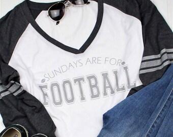 Sundays are for Football Shirt, Football Shirt, Superbowl Shirt, Fall Shirt, women's Raglan, Mom Christmas Gift, Sundays, Vinyl Shirt