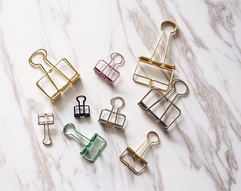 3pc  Paper Clips, gold bookmarks Metal Paper Clip,colorful Binder Clips,  Office Supplies, Midori Clip Planner Accessories