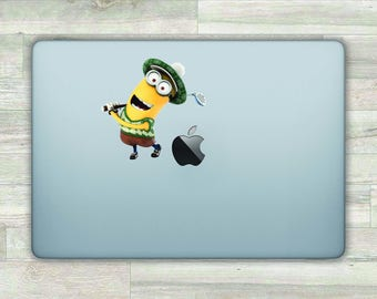 Minions MacBook Decal Minions MacBook Sticker Apple Logo Decal MacBook Pro Decal Despicable Me Vinyl Sticker MacBook Air Decal Retina bn552