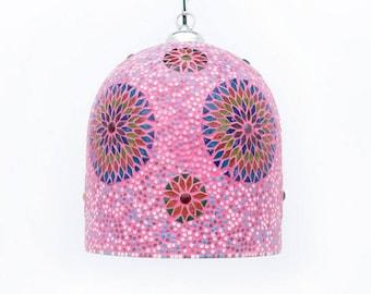 Oriental Bohemian Mosaic Lamp pink