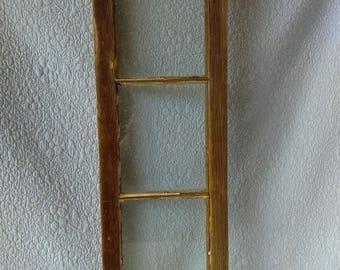 Vintage Wood Framed Glass Window