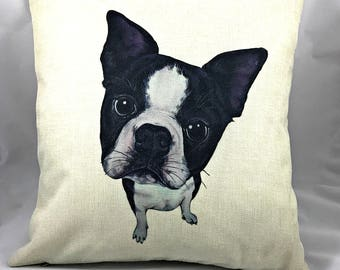 Can't Resist the Boston Face - Throw Pillow with Insert & w/Free Shipping