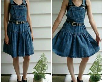 Vintage denim overall dress