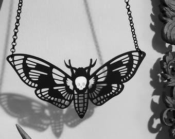 Deaths Head Moth Necklace v2.0 Large