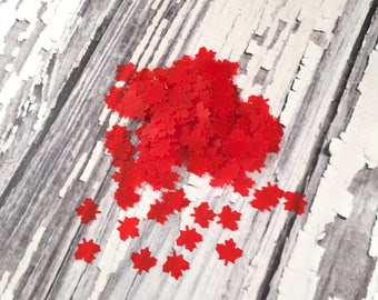 Maple Leaf Table Confetti, Canada, Canadiana, Party Supplies, Craft