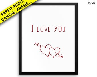 I Love You Prints I Love You Canvas Wall Art I Love You Framed Print I Love You Wall Art Canvas I Love You Love Art I Love You Love Print I
