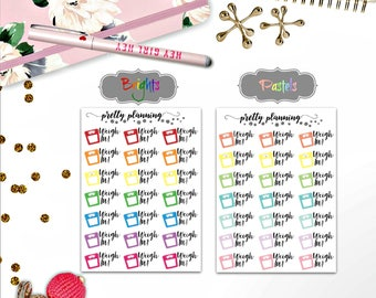 Colorful Scale stickers fit a variety of planners and Traveler's Notebooks, including Erin Condren Life Planner and Happy Planner.