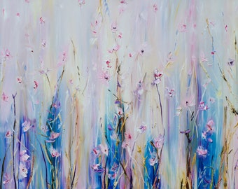 Abstract Oil Painting, Large Oil Painting, Floral Painting, Contemporary Art, Original Oil Painting, Modern Art