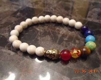 Various colors and white Buddha bracelets