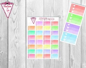 Printable Homework Half Box Checklists - Soft Colors