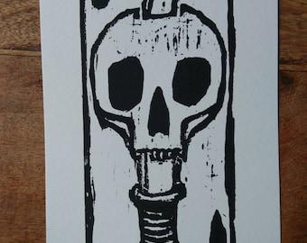 Double Dead Woodcut Print