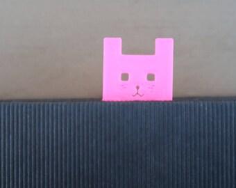 3D printed cat bookmark