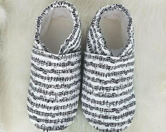 Music Notes Soft Sole Shoes