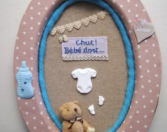Oval frame - baby boy