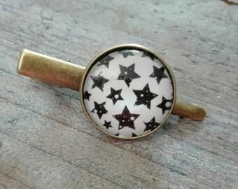 Cabochon antique bronze hair clip