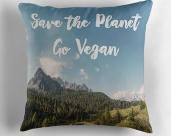 Vegan Pillow, Vegan Home Decor, Vegan Decorative Pillow, Vegan Gift, Gift For Vegans, Vegan Cushion, Vegan Home, Vegan Throw Pillow