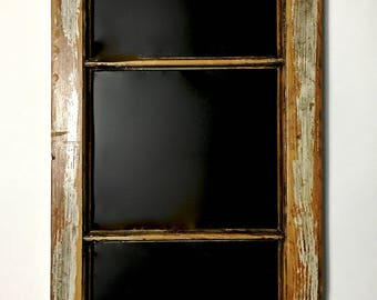 small transom window blackboard