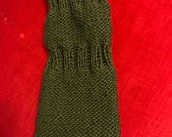 Civil War Lady's 1860s Olive Green Knitted Sleeves- Large