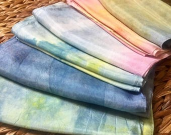 100% Silk Scarves -Naturally Dyed