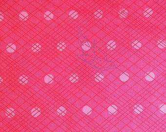 Makower Andover Swallow bird pink 100% cotton fabric 44 inch / 110cm