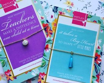 White Druzy Necklace - Teacher Appreciation Gift