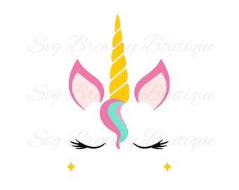 Unicorn, horn SVG (layered), PNG, DXF, Pdf  for cricut, silhouette studio, cut file, cutting machine, vinyl decal, t shirt design