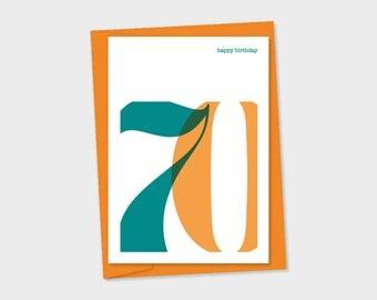 birthday card - 70th Birthday