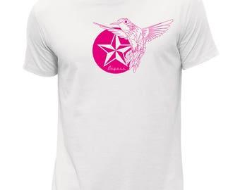 peace white all cotton men's t-shirt