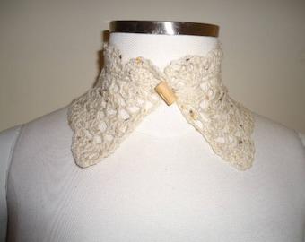 Handmade Choker or collar wool tweed