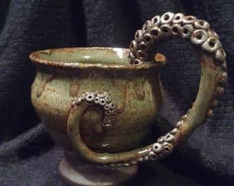 Tentacle Tea Mug~Earthy Green