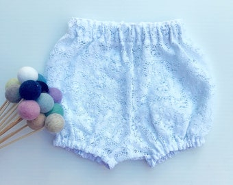 Vivian white lacs bloomers lacs shorties baby girl clothes white bloomers white shorts baby bloomers lace baby clothes baby girl