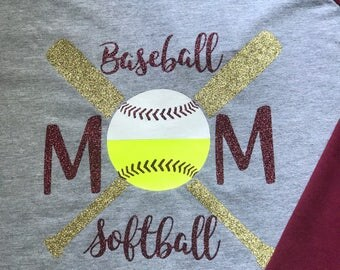 Baseball Softball Mom Raglan Tee