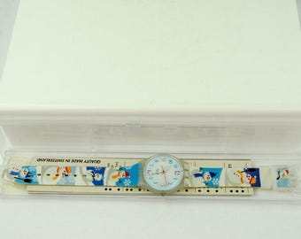 Super Rare Vintage New in the Box Swatch Snowman Watch GW138